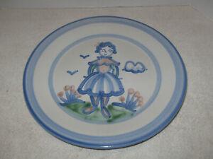 "Vintage  M A Hadley Farmer's Wife 11"" Dinner Plate, American Pottery"