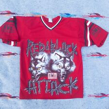 Vintage WCW 1998 nWo New World Order Red & Black Attack Wolfpack Jersey Shirt S