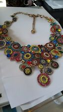 JEWELRY Choker Necklace cabochon Multi color JEWELLERY STUNNING HUGE BOLD