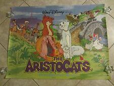 THE ARISTOCATS movie poster WALT DISNEY original 80's rolled UK poster