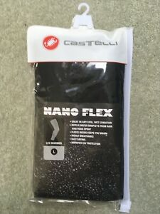 New Large Nanoflex Castelli Black Wind and Water Resistant Cycling Leg Warmers