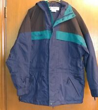 Mens blue 'Columbia' hip length hooded all weather coat size XL