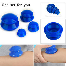 Natural Rubber Set Body Anti Cellulite Vacuum Silicone Cupping Tool Blue
