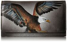 Anuschka Women's Hand Painted Genuine Leather Wallet - American Eagle