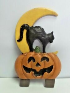 Black Cat Halloween Door Knocker Top Topper, Midwest of Cannon Falls. Rare! CF