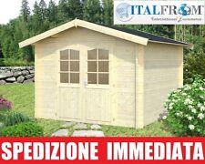 Casetta di Legno Box Casette da Giardino in Legno d'Abete 28mm 7mq ITALFROM01