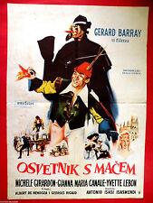 SCARAMOUCHE 1962  GERARD BARRAY MICHELE GIRARDON RARE EXYU MOVIE POSTER