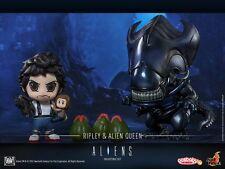 Hot Toys Ripley and Newt Vs Alien Queen Cosbaby Set