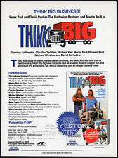 THINK BIG__Original 1990 Trade print AD promo__MARTIN MULL__BARBARIAN BROTHERS
