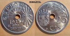 FRANCO. 25 céntimos año 1937. BONITAS SIN CIRCULAR.