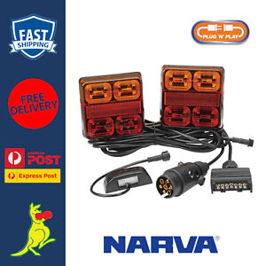 Narva LED Tail Lights Plug & Play for Box Trailers & Tradesman Trailer 93540BL2