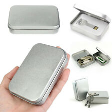 Hot Small Metal Tin Silver Storage Box Case Organizer For Money Coin Candy Key