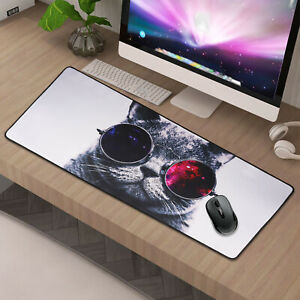 90x40CM EXTRA LARGE  Cute Cat GAMING MOUSE PAD MAT FOR PC LAPTOP MACBOOK  UK