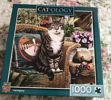 Catology Hemingway 1000 Piece Puzzle - Cat Puzzle Masterpieces Company #71398