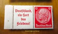 EBS Germany 1936 Hindenburg se-tenant pair Zusammendruck Michel W67 MNH** cv$16