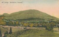 MANCHESTER VT – Mt. Aeolus – Hand Colored Postcard - 1936
