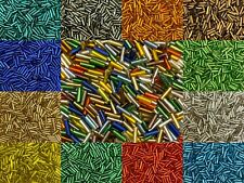 50g glass bugle beads - Silver-Lined, approx 6mm tubes - choice of colours