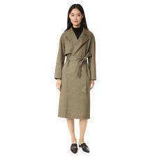 NEW CLUB MONACO FARRAH TRENCH COAT MANTEAUX ARMY GREEN SIZE S $525