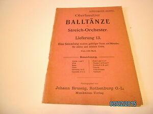 Streichorchester  Noten : Oberlausitzer Balltänze - Lieferung 13 - unvollständig