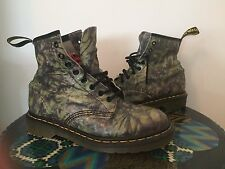48❤️ Multi Swirl Rare Green Purple Acid Wash Tie Dye Sz 7 Dr Martens Boots