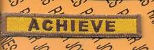 """132nd Armored """"ACHIEVE"""" TANK TAB patch"""