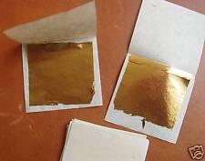 100 feuilles d'or 24 carats 4,5 x 4,5 cm - 2ème choix