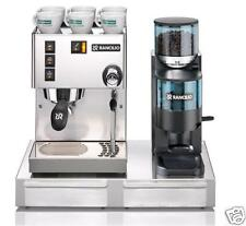 Rancilio Silvia V5 Machine, Rocky Doser Grinder & Base. Sold by Coffee-A-Roma.