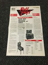 RARE 1990 DATA EAST FULL TILT NEWSLETTER WITH FREE THE SIMSONS PINBALL FLYER