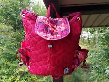 CINDAB Backpack Red Cindab Made in the USA Snap Button Drawstring Multi Pockets