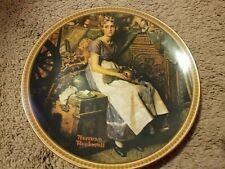 """New listing norman rockwell """"dreaming in the attick"""" decorative plate. Euc"""