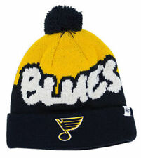 St. Louis Blues NHL Youth Underdog Pom Knit Beanie Kid's Hat Cap Hockey 47 Brand