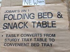 """JOBAR""""S 2IN 1, FOLDING BED & SNACK TABLE,  adjustable, NEW, size 22 1/2 x 15 3/4"""