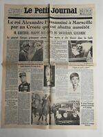 N317 La Une Du Journal Le petit journal 10 octobre 1934 général George