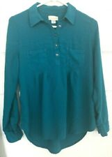 Canyon River Blues Top size medium M Med High-Low Long Sleeve TOP blouse shirt