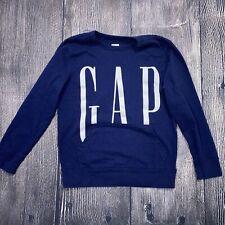Gap Kids Sweatshirt Pullover Navy Blue Size Large Kangaroo Pocket 100% Cotton