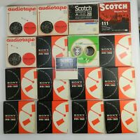 LOT of 16 Reel to Reel Tapes Sony PR-150-7 Scotch AudioTape Irish JFK SIXTEEN!!!