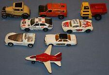 Lot Vtg Matchbox Cars 8 pcs Police Audi Sport Blue Flame Lesney Model A Quasar