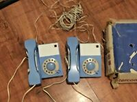VINTAGE 1966 CHILD' S TELEPHONE SET TOY Made In Yugoslavia Working with leaflet