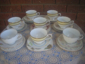 Set Of 8 Mixed Trios Tea Party Mad Hatter High Tea