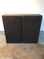 Vintage Pair Sony SS-112 20W 8 Ohm Speakers Brown Wood Grain
