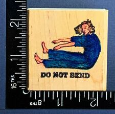 Do Not Bend Woman In Pj'S Humor Rubber Stamp Maine Street Stamps Rubber Stamp