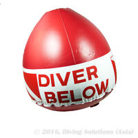 Scuba Diving Surface Marker Buoy Dive Flag with Float Diver Below