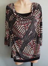 BNWT Ladies Sz 18 Undercoverwear Gorgeous Shanti Print Long Sleeve Tunic Top
