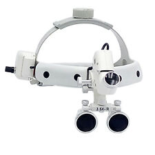 Dental Surgical Medical Headband Binocular Loupe 3.5X With LED Light 5W CE White
