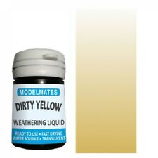 More details for modelmates dirty yellow weathering liquid (18ml pot) 49209 - free postage