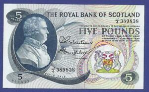 5 POUNDS 1967 GEM UNCIRCULATED BANKNOTE FROM SCOTLAND  !!!!!!!!!!!!!!!!!!!!