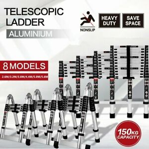 8 Models Multipurpose Ladder Telescopic Aluminium Alloy Extension Steps Portable