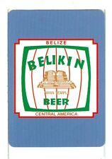 "Single Wide/Poker sized Playing Card, ""Belikin"" Beer, Belize, Central America"