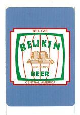 "Single Wide/Poker sized Playing Card, ""Belikin"" Beer, Belize, Central America"