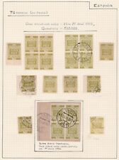 Estonia Independence. 1918-19  70k Issue on Album Page.